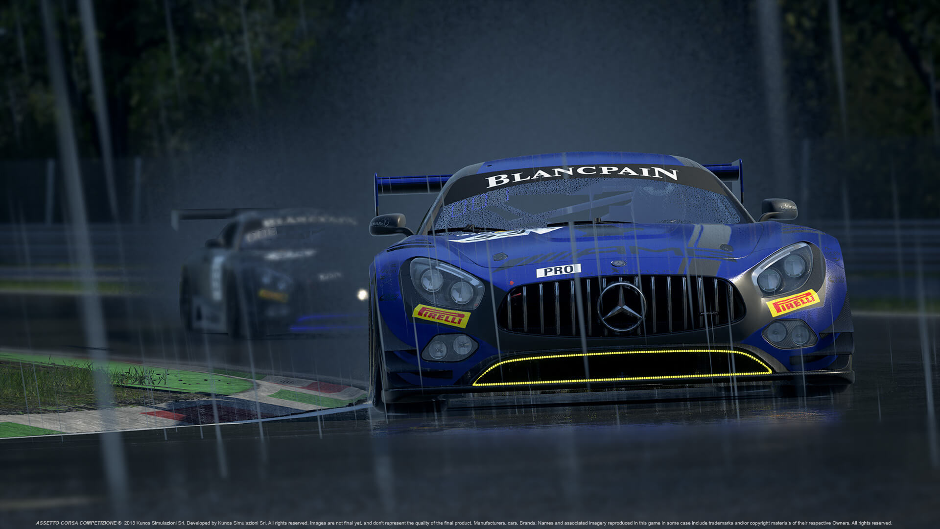 Assetto Corsa Competizione with day and night cycle.